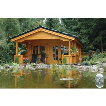 Chalet en bois avec terrasse 20m2 habitable